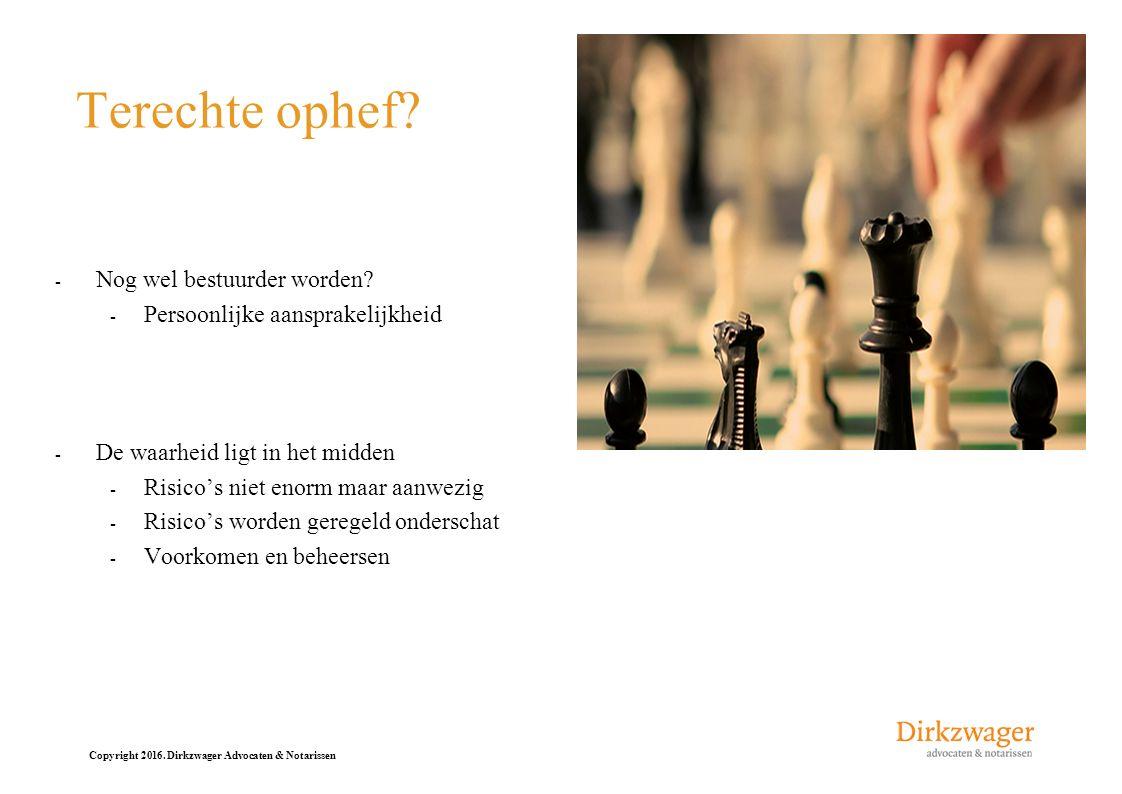Copyright 2016.Dirkzwager Advocaten & Notarissen Inhoud - 1.
