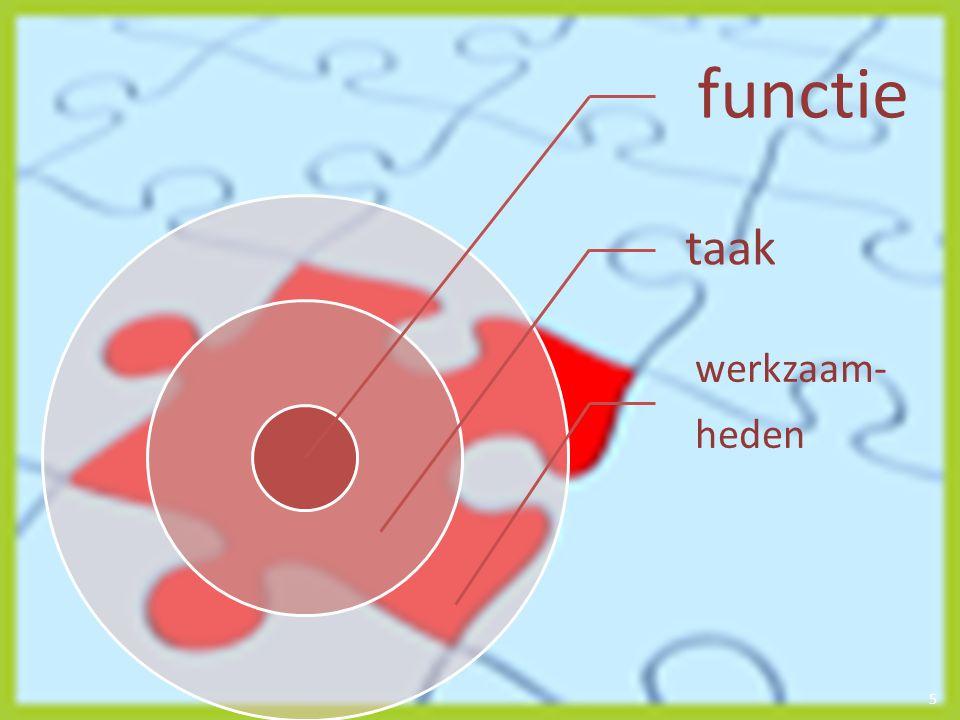6 functie afgerond geheel van taken werkzaamheden taak afgerond geheel van werkzaam- heden handelingen binnen een taak