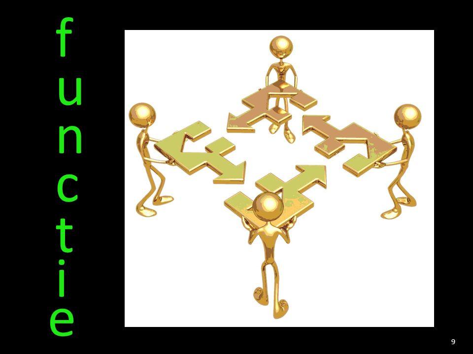 f u n c t i e samenwerken informatie/commu- nicatie regels /veiligheid beeld van het bedrijf verdeling werk 9