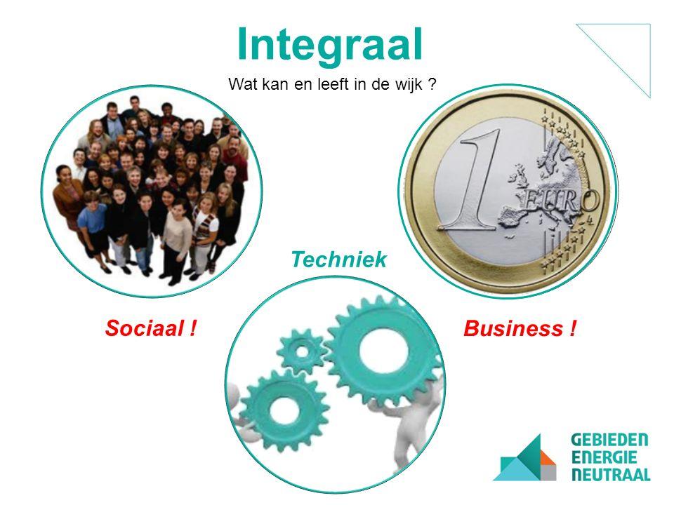 Techniek Sociaal ! Integraal Business ! Wat kan en leeft in de wijk