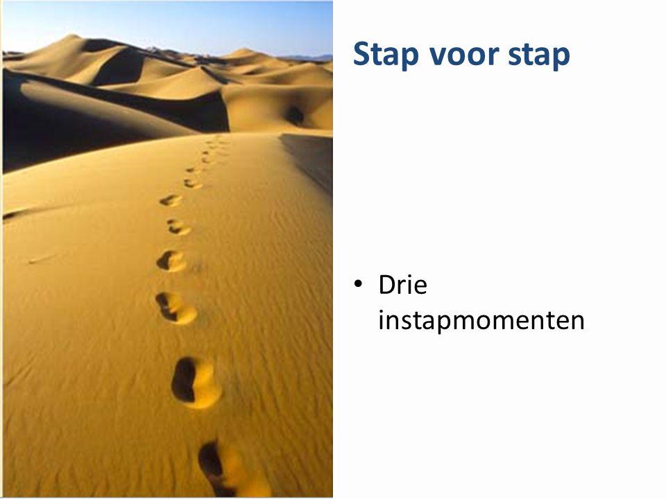 Stap voor stap Drie instapmomenten