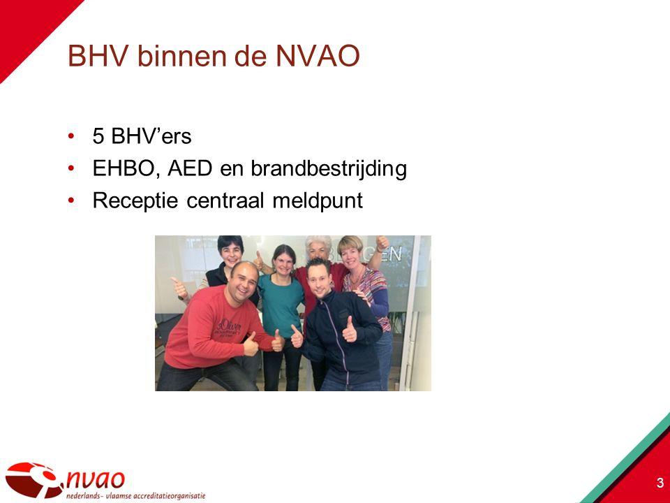 3 5 BHV'ers EHBO, AED en brandbestrijding Receptie centraal meldpunt