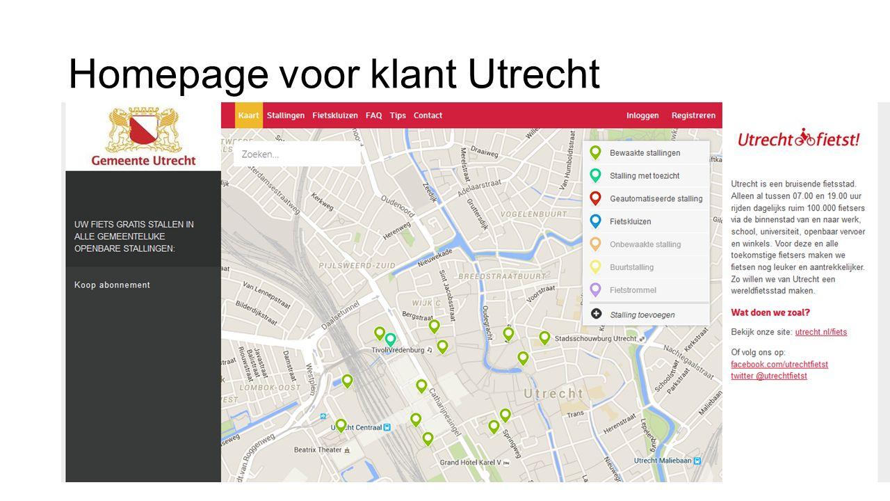 Homepage voor klant Utrecht