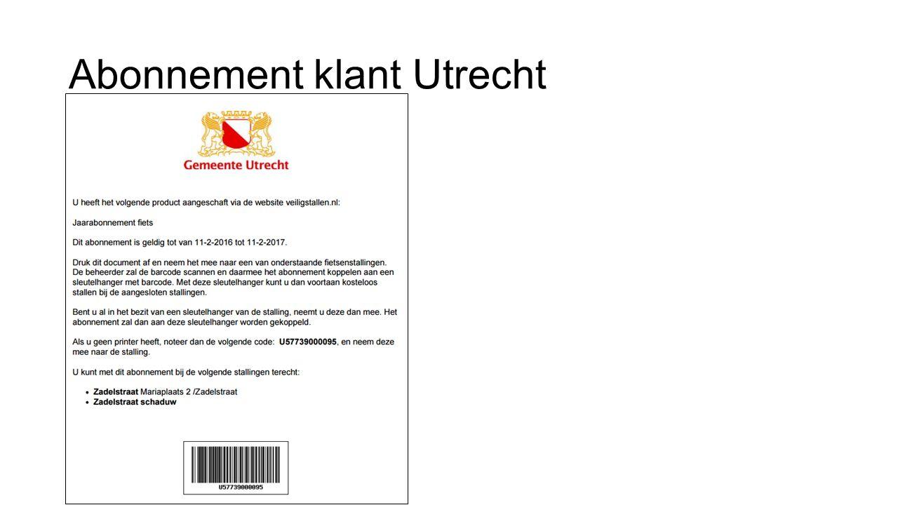 Abonnement klant Utrecht