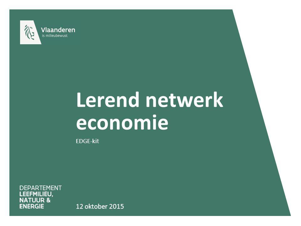 Lerend netwerk economie EDGE-kit 12 oktober 2015