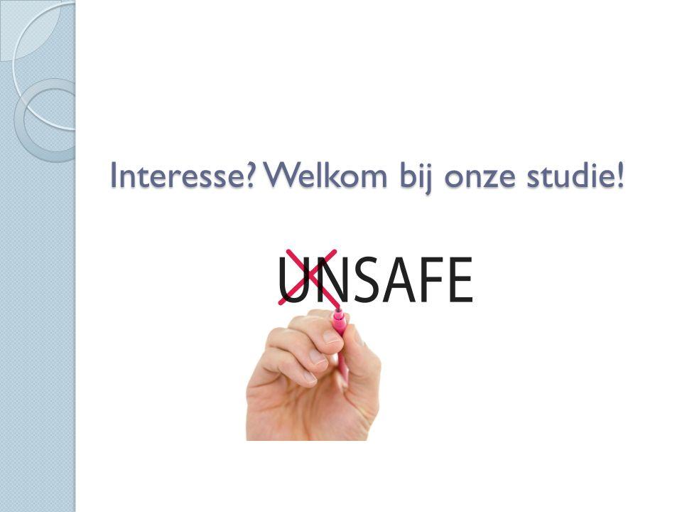Interesse Welkom bij onze studie!