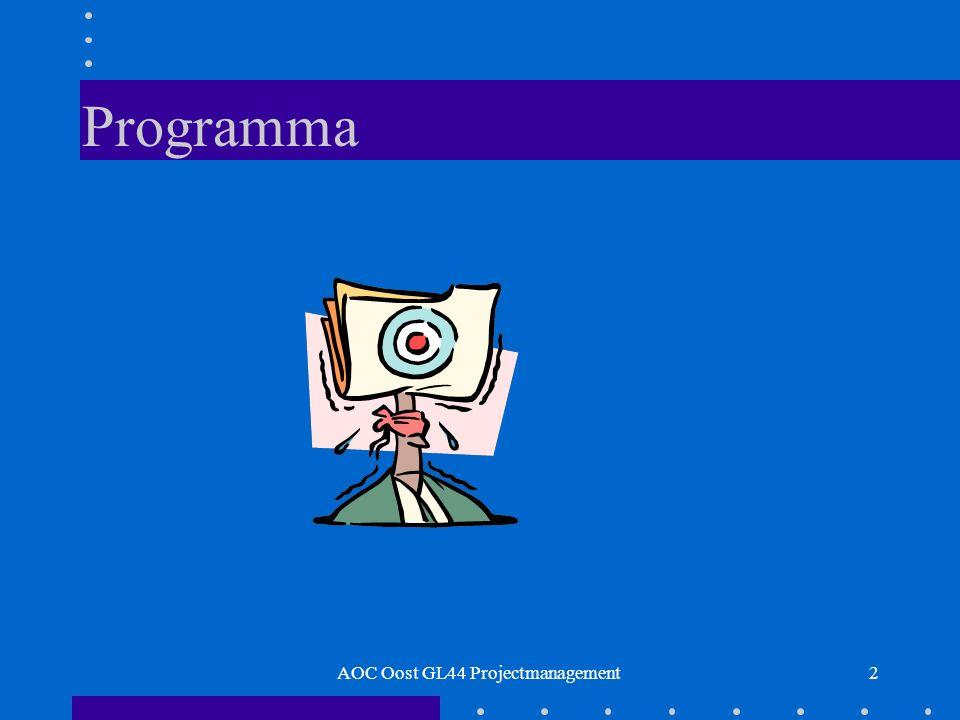 2 Programma AOC Oost GL44 Projectmanagement