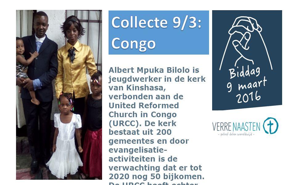 Albert Mpuka Bilolo is jeugdwerker in de kerk van Kinshasa, verbonden aan de United Reformed Church in Congo (URCC).
