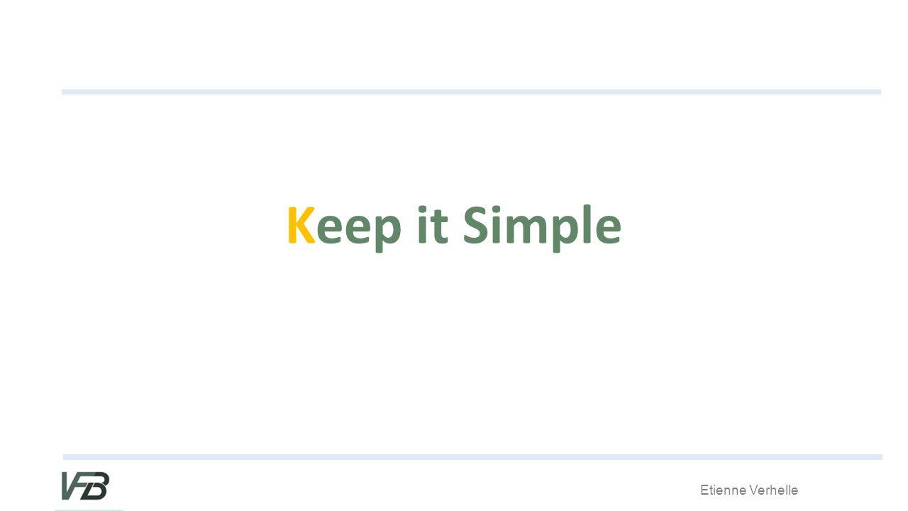 Etienne Verhelle Keep it Simple