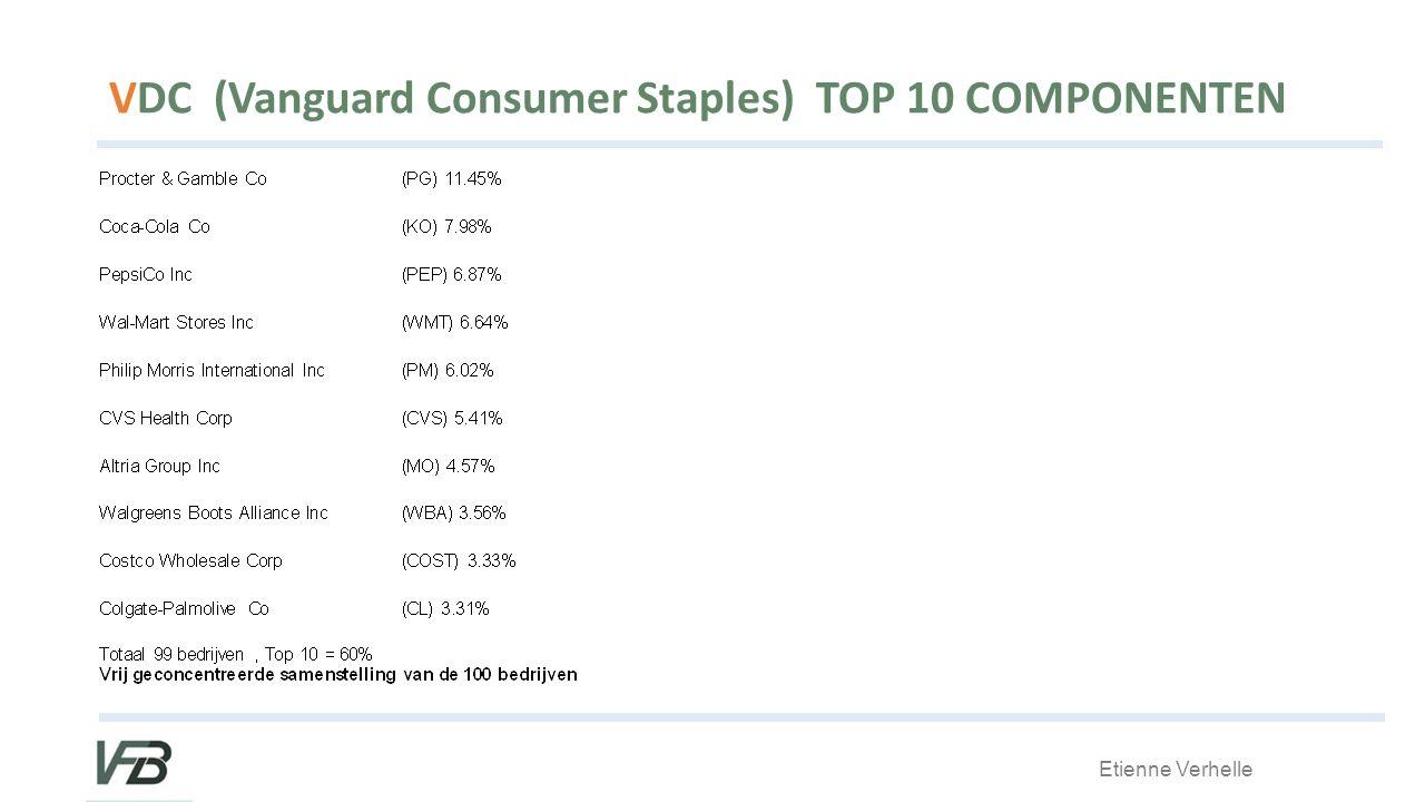 Etienne Verhelle VDC (Vanguard Consumer Staples) TOP 10 COMPONENTEN