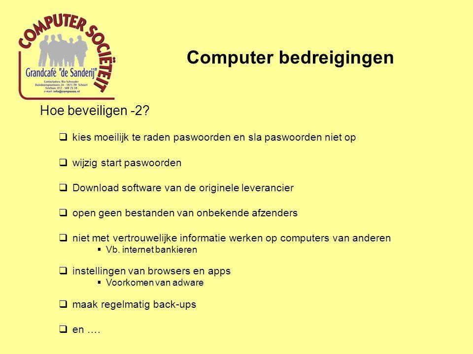 Computer bedreigingen Hoe beveiligen -2.