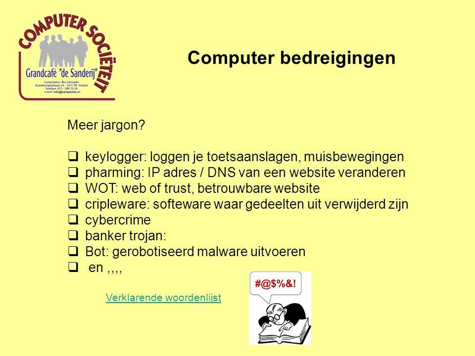 Computer bedreigingen Meer jargon.