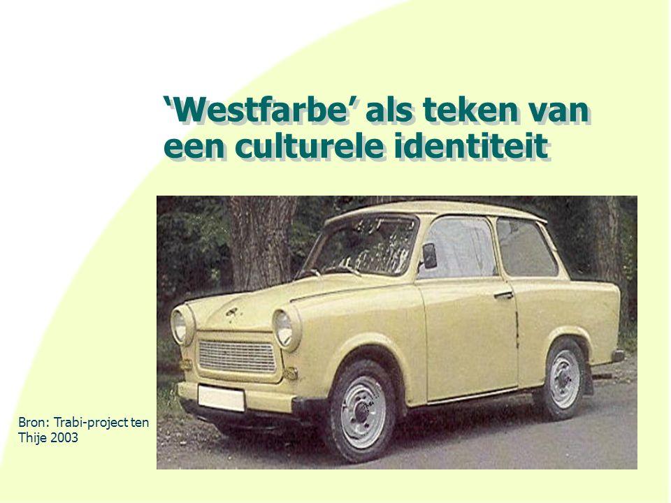 'Westfarbe' als teken van een culturele identiteit Bron: Trabi-project ten Thije 2003