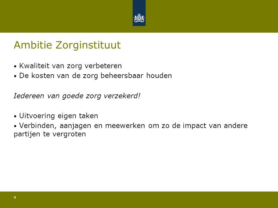Consultatiebijeenkomst Agenda Zorginstituut 2015 28 oktober 2014 Tot ziens.