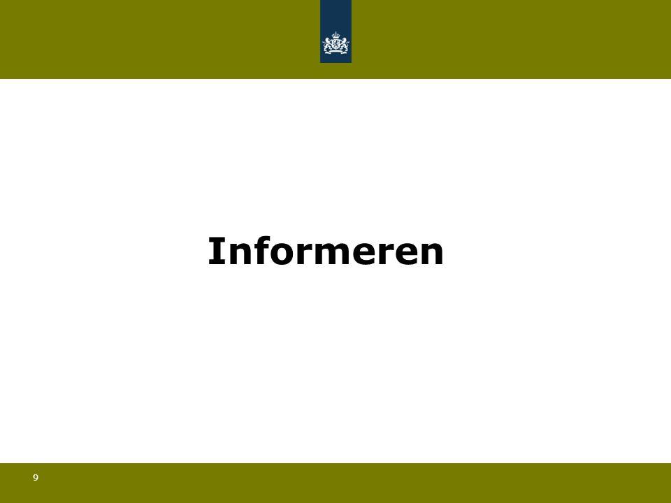 9 Informeren