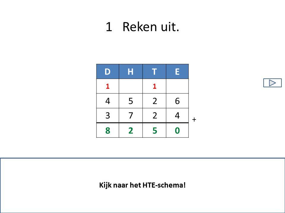 1 Reken uit. Kijk naar het HTE-schema! 0528 11 DHTE 2 26 47 5 + 3 4