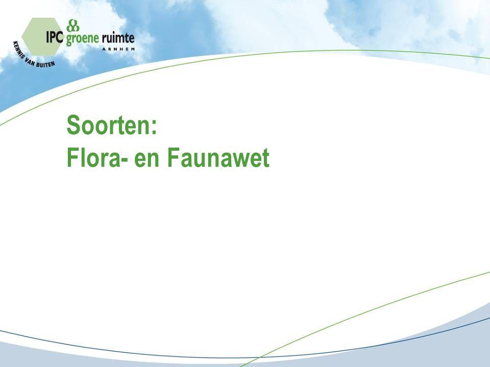 Soorten: Flora- en Faunawet