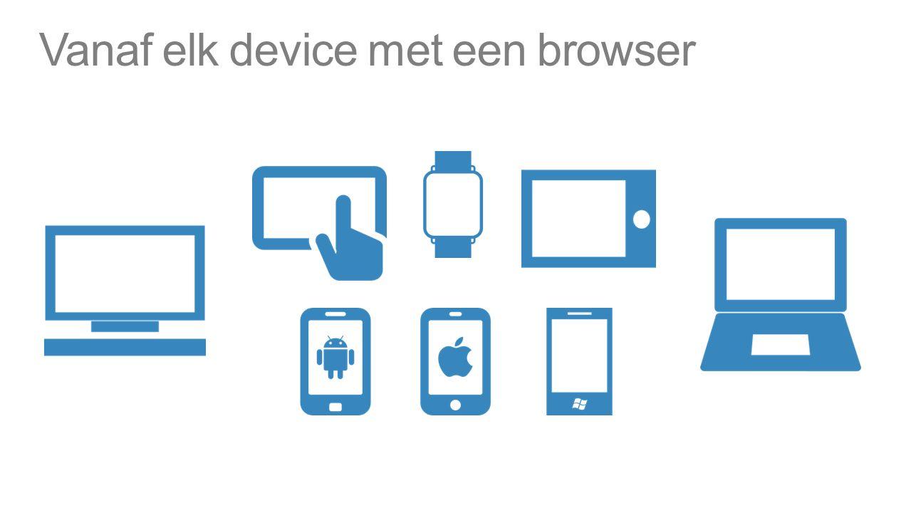 Vanaf elk device met een browser