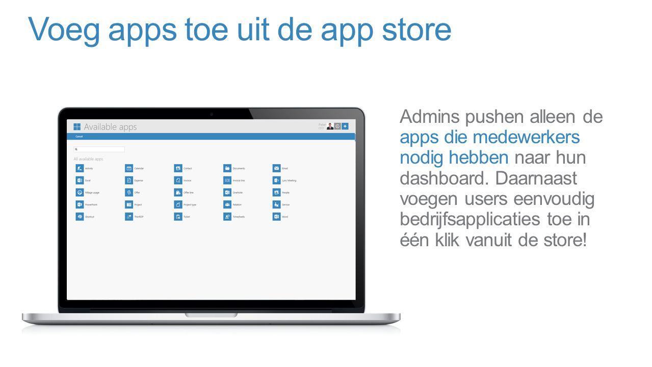 Voeg apps toe uit de app store