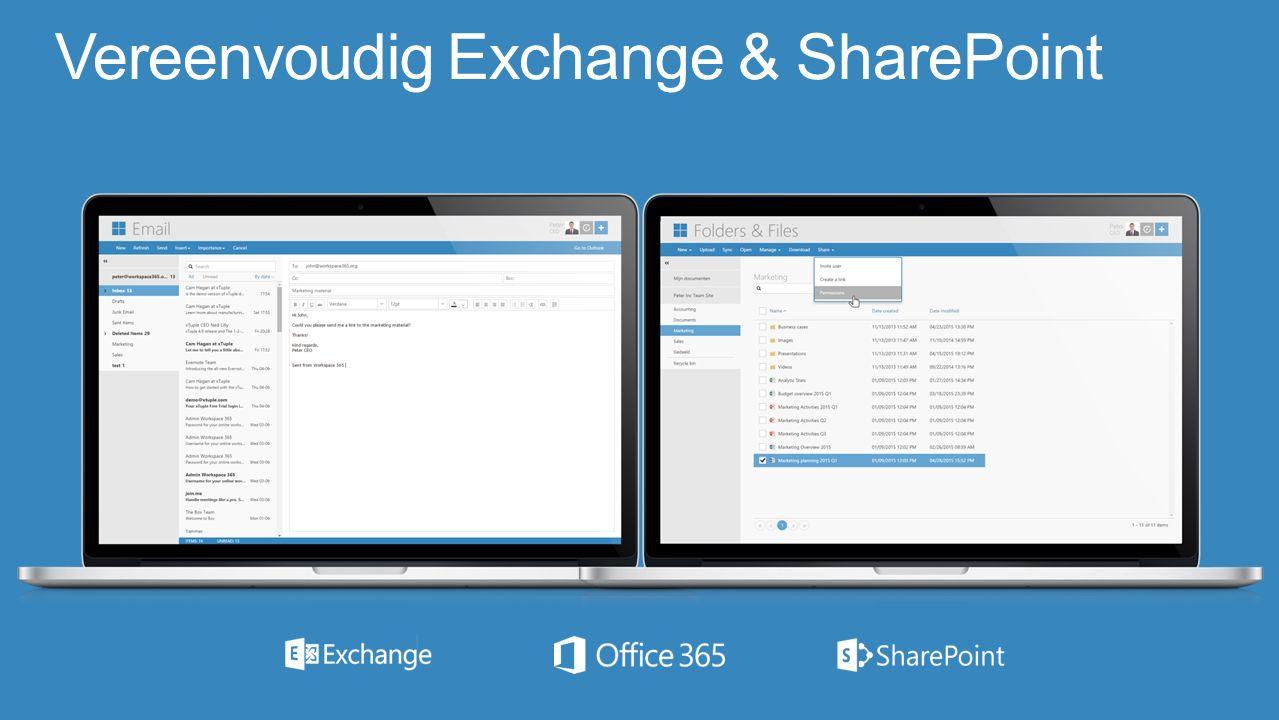 Vereenvoudig Exchange & SharePoint