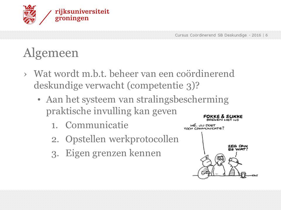›Wat wordt m.b.t. beheer van een coördinerend deskundige verwacht (competentie 3).