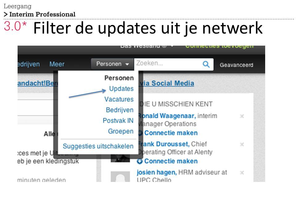 Filter de updates uit je netwerk