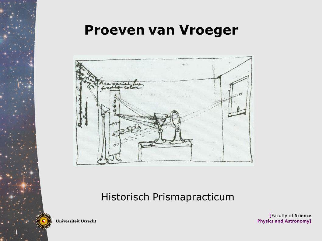 1 Proeven van Vroeger Historisch Prismapracticum