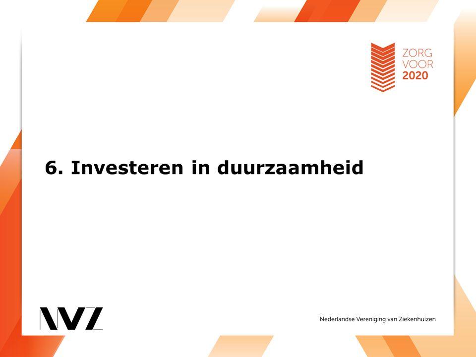 6. Investeren in duurzaamheid