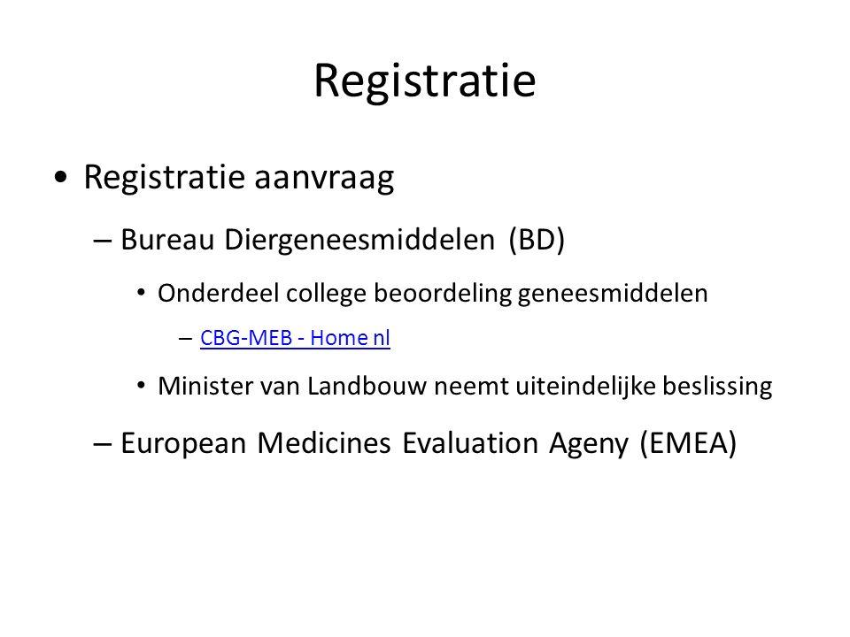 Registratie Registratie aanvraag – Bureau Diergeneesmiddelen (BD) Onderdeel college beoordeling geneesmiddelen – CBG-MEB - Home nl CBG-MEB - Home nl M