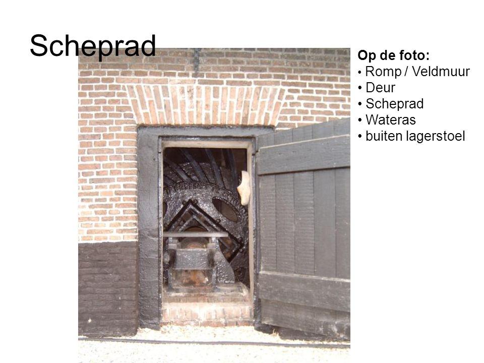 Scheprad Op de foto: Romp / Veldmuur Deur Scheprad Wateras buiten lagerstoel