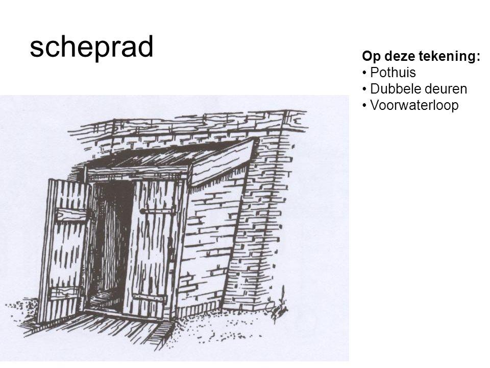 scheprad Op deze tekening: Pothuis Dubbele deuren Voorwaterloop