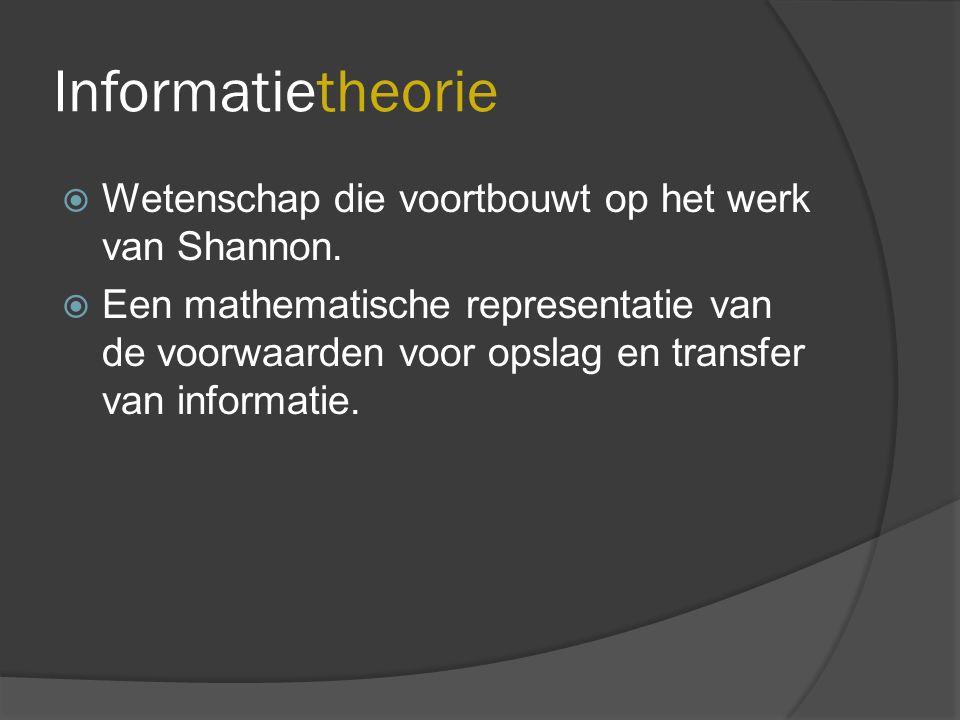 Onderzoeksgebieden  Informatietheorie  Informatica  Informatiewetenschap  Informatiekunde