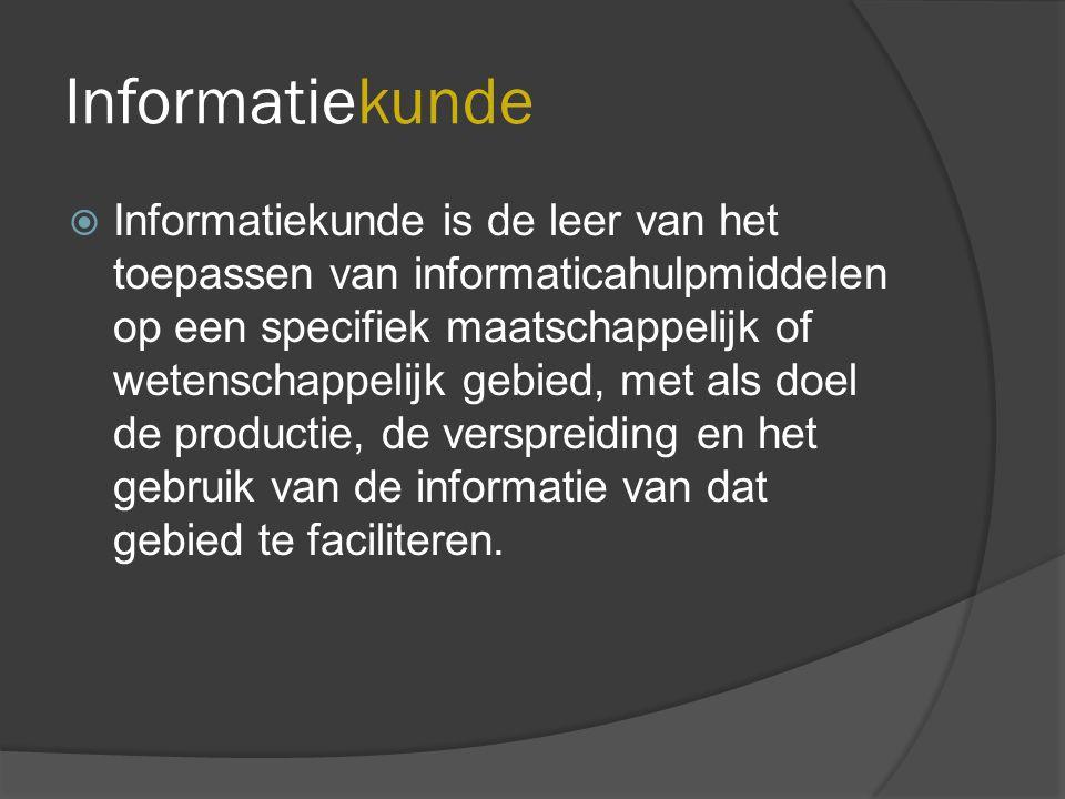 Onderzoeksgebieden informatiewetenschap  Documentbeheer  Collectiebeheer  Intellectual Rights Management  Kwaliteitszorg  Automatisering  Zoeksystemen