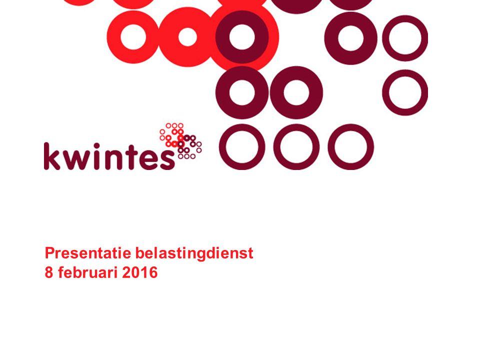 Presentatie belastingdienst 8 februari 2016