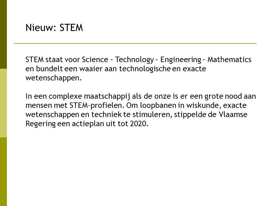 STEM staat voor Science – Technology – Engineering – Mathematics en bundelt een waaier aan technologische en exacte wetenschappen. In een complexe maa