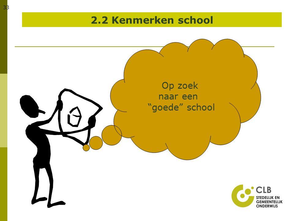 """33 2.2 Kenmerken school Op zoek naar een """"goede"""" school"""
