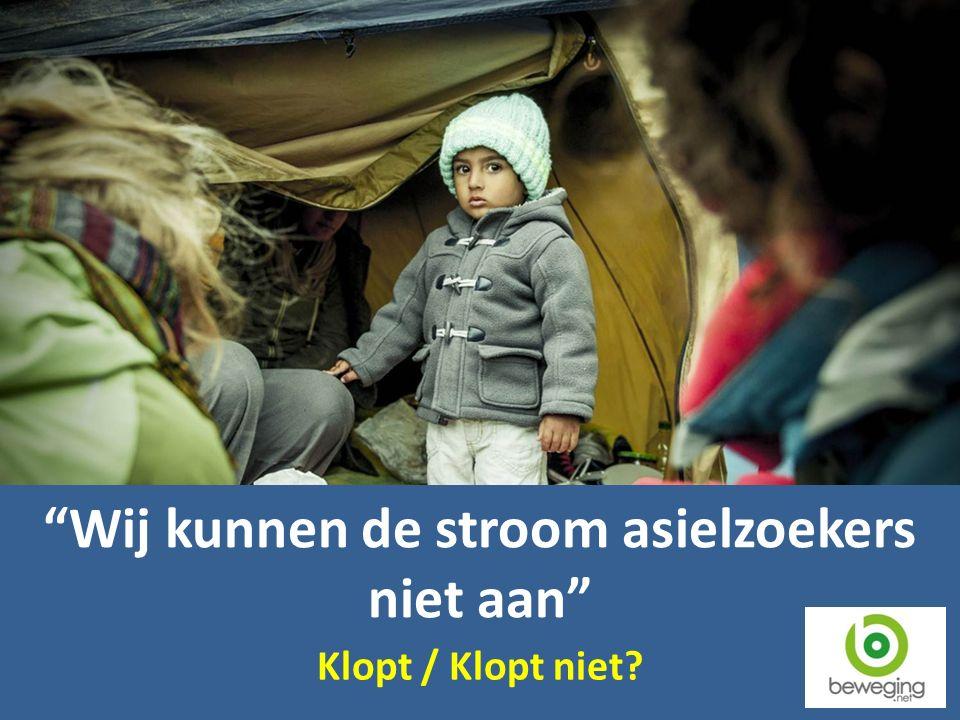 Wij kunnen de stroom asielzoekers niet aan Klopt / Klopt niet?