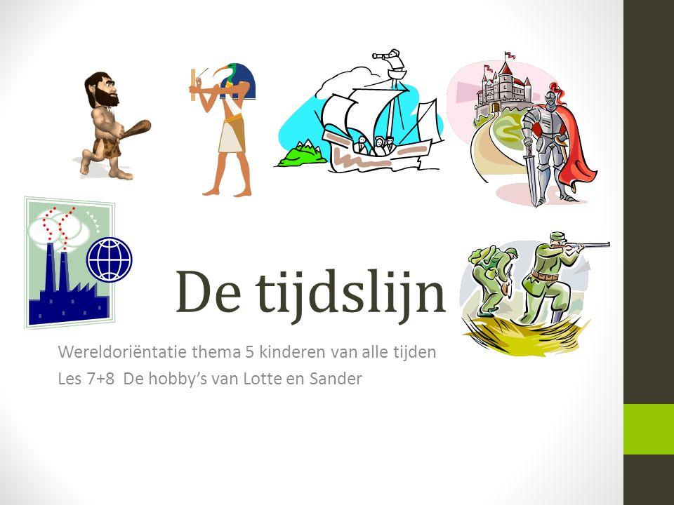 De tijdslijn Wereldoriëntatie thema 5 kinderen van alle tijden Les 7+8 De hobby's van Lotte en Sander