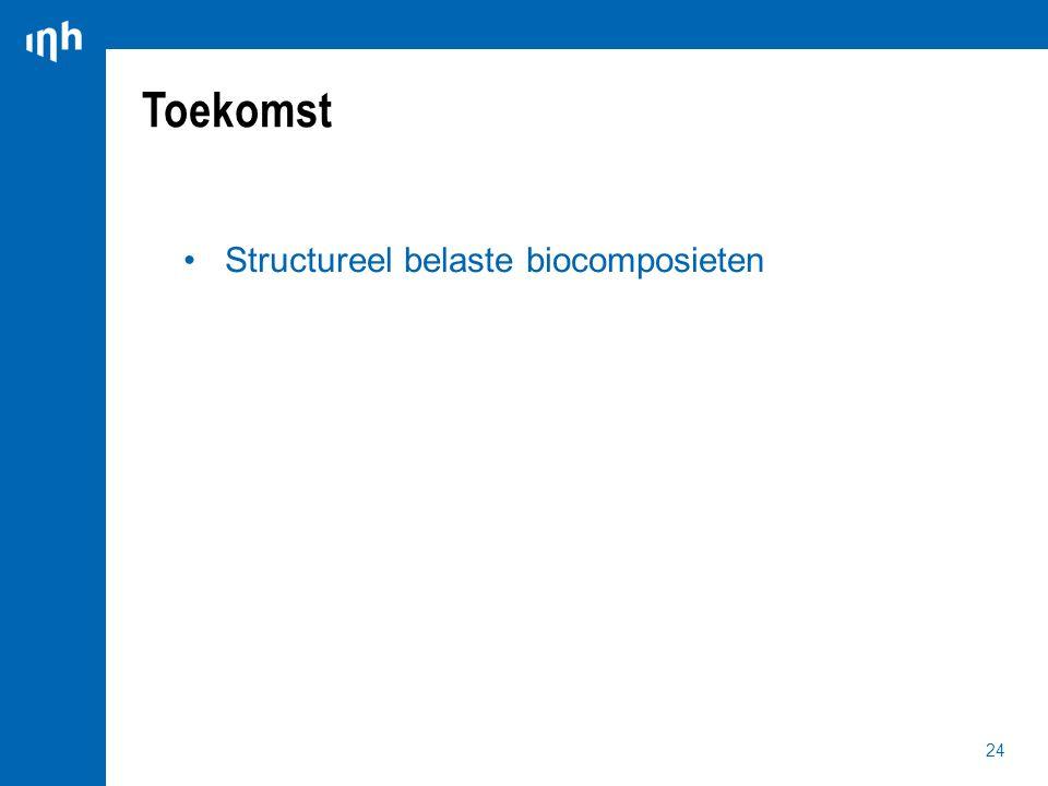24 Structureel belaste biocomposieten Toekomst