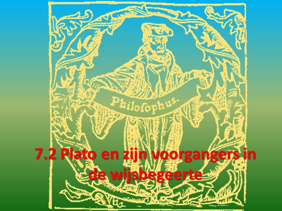 7.2 Plato en zijn voorgangers in de wijsbegeerte
