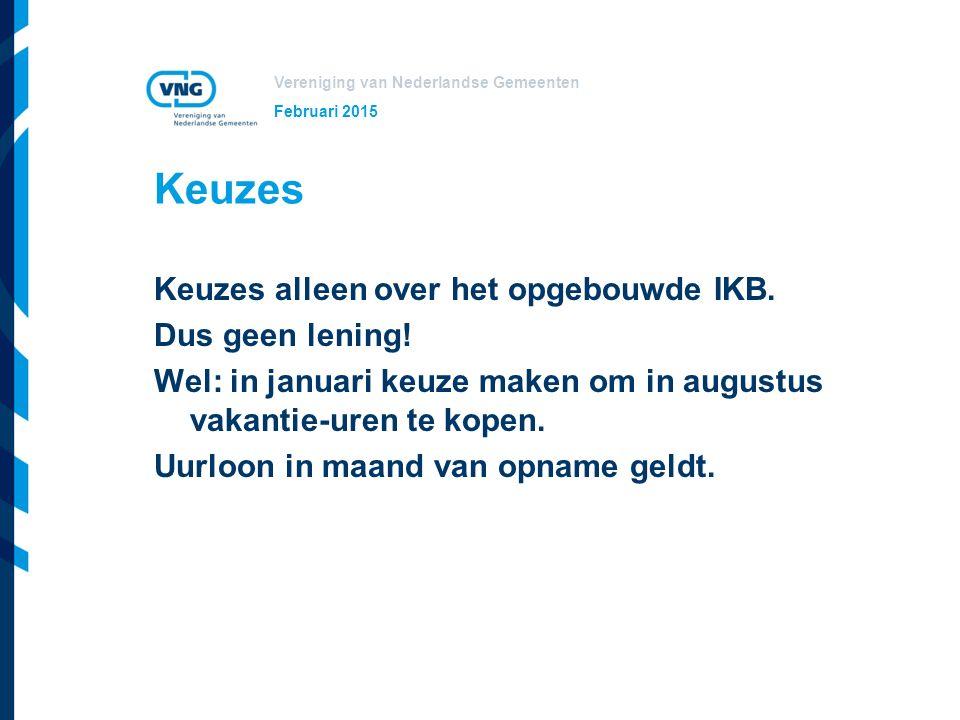 Vereniging van Nederlandse Gemeenten Eerste jaar IKB Vakantiegeld juni tot en met december 2016 wordt in mei 2017 als vakantiegeld uitgekeerd.