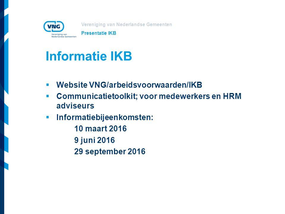 Vereniging van Nederlandse Gemeenten Vragen Presentatie IKB