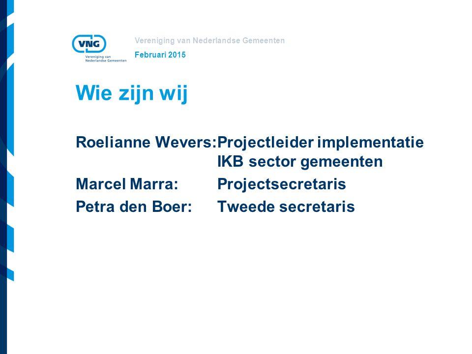 Vereniging van Nederlandse Gemeenten Doel bijeenkomst Aparte bijeenkomst voor aangesloten organisaties.