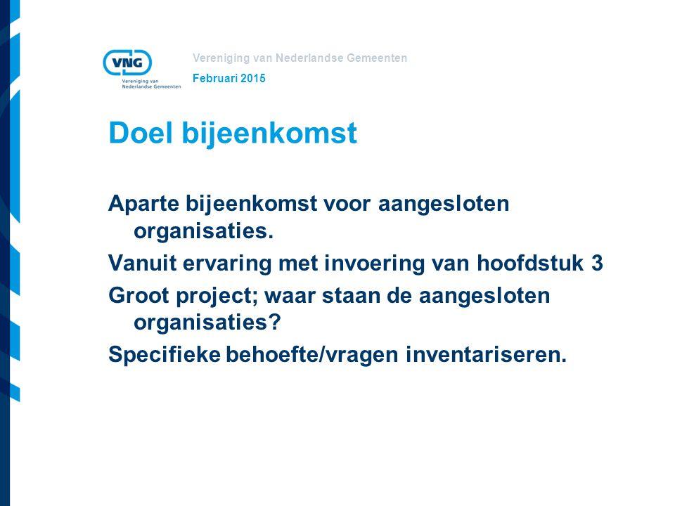 Vereniging van Nederlandse Gemeenten Inhoud bijeenkomst Presentatie Wat is het IKB Wat moet de organisatie (nu) doen Activiteiten in de loop van het jaar Wat gaat de VNG leveren Ruimte voor vragen Inventarisatie: wat maakt de situatie van de aangesloten organisaties specifiek.
