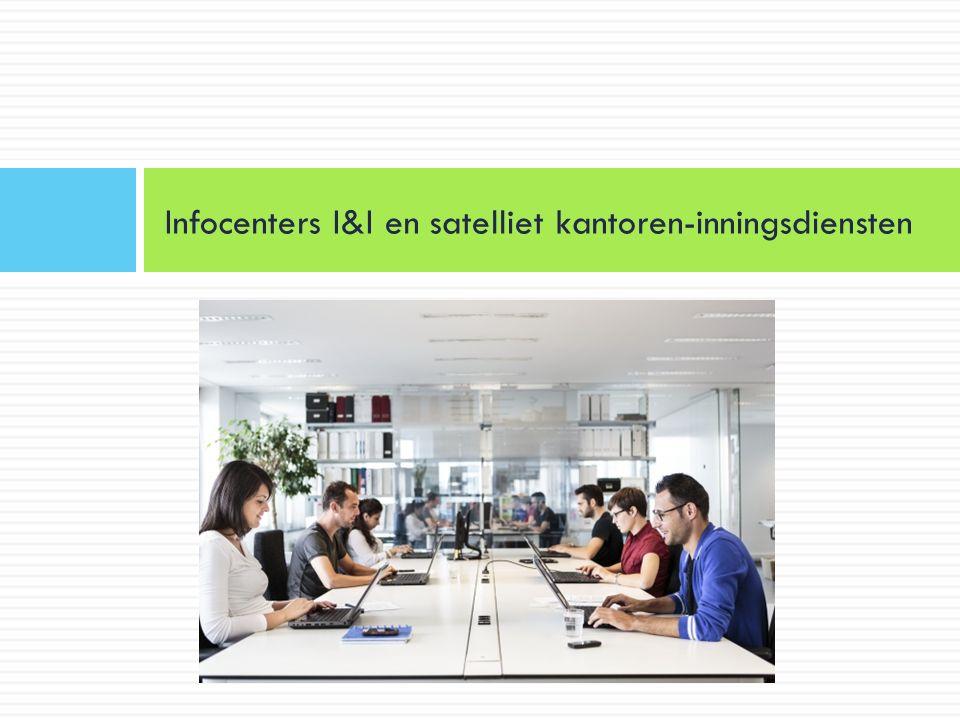 Infocenters I&I en satelliet kantoren-inningsdiensten