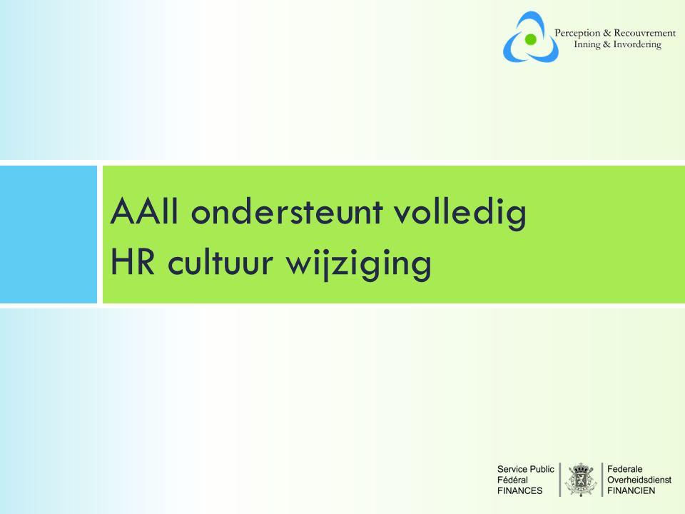 AAII ondersteunt volledig HR cultuur wijziging
