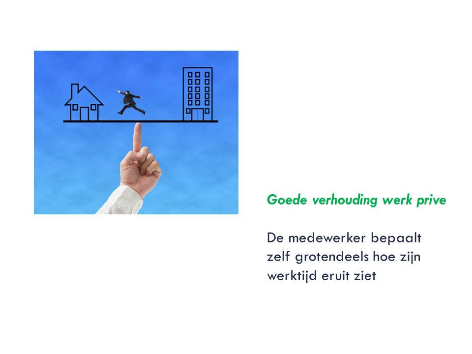 Goede verhouding werk prive De medewerker bepaalt zelf grotendeels hoe zijn werktijd eruit ziet