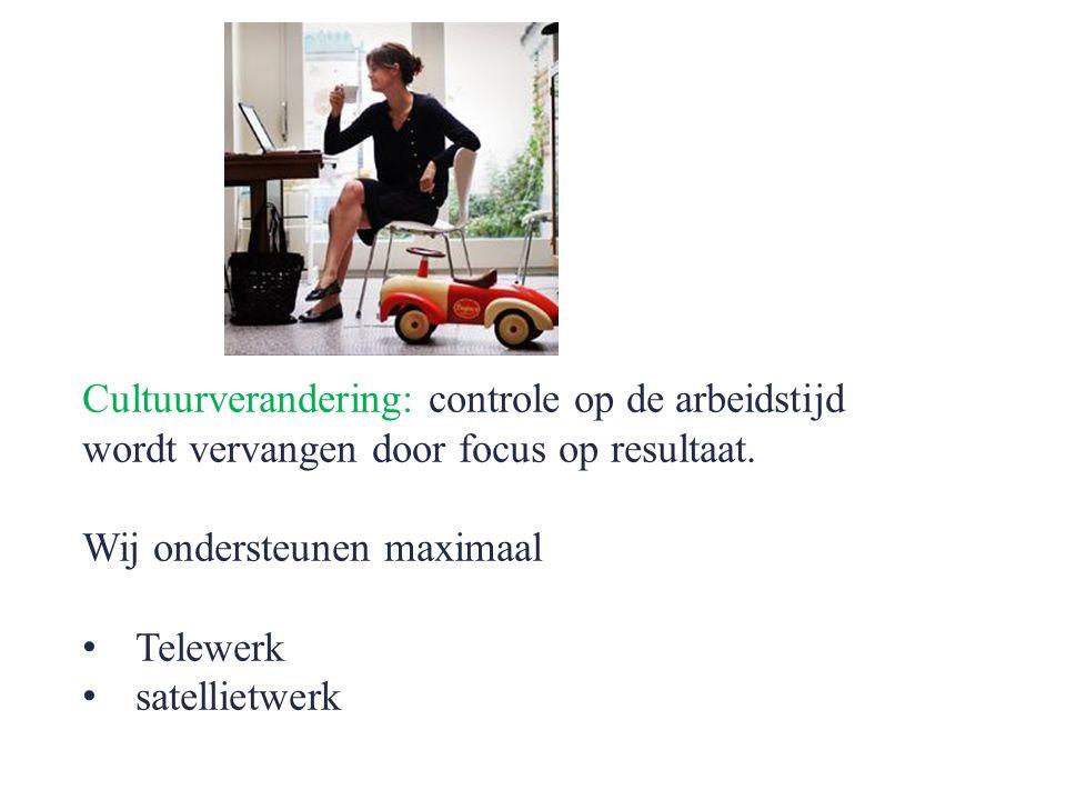 Cultuurverandering: controle op de arbeidstijd wordt vervangen door focus op resultaat.