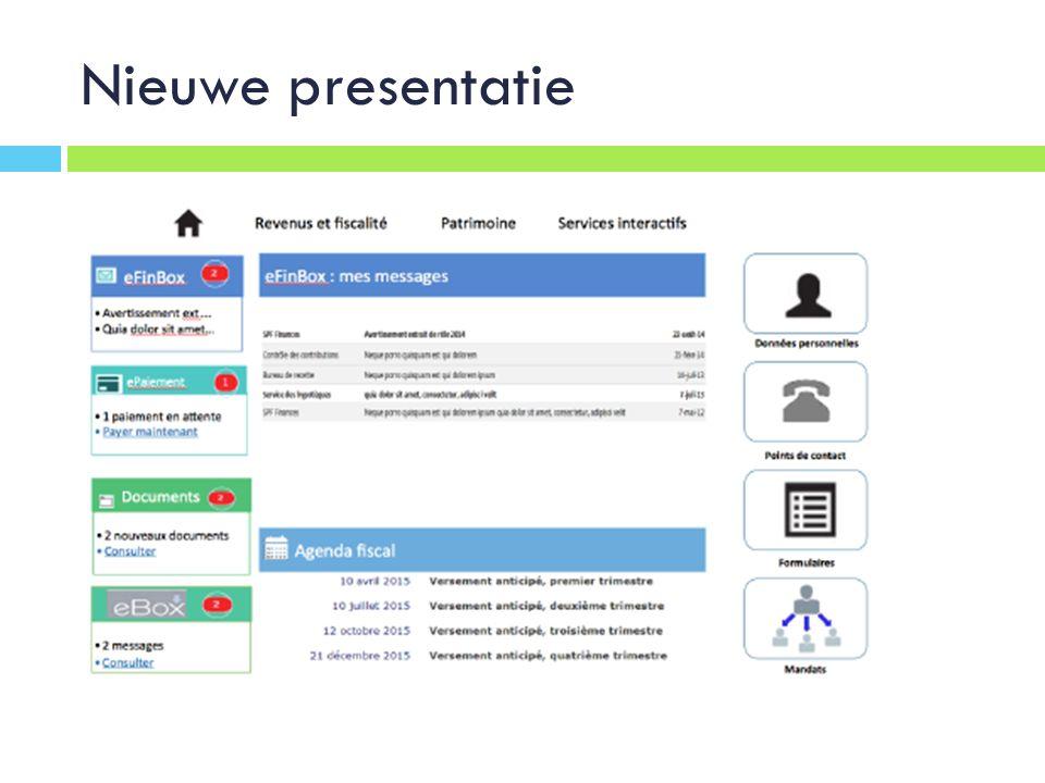Nieuwe presentatie