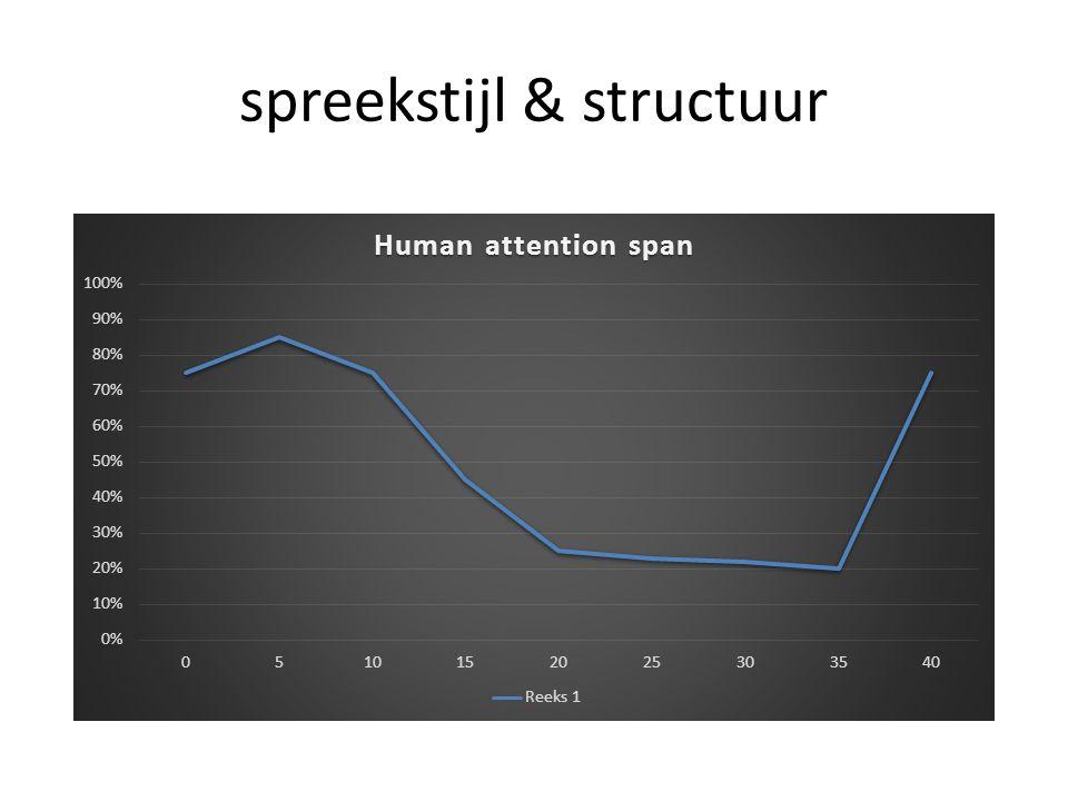 spreekstijl & structuur